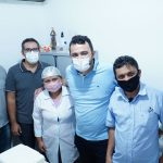Yglésio e vereadores fiscalizam vacinação contra covid-19 em Paço do Lumiar